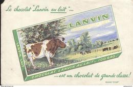 Buvard  Chocolat Lanvin Au Lait - Un Chocolat De Grande Classe - Bon état - Chocolat