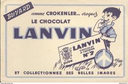 Buvard  Chocolat Lanvin - Comme Crokenler Croquez Le Chocolat - Très Bon état - Chocolat