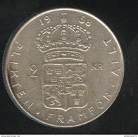 2 Couronnes Suède / Sweden 1958 Gustav VI - TTB+ - Sweden