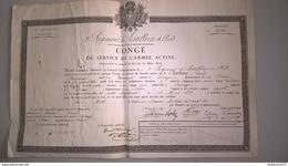 Congé Du Service De L'Armée Active D'un Canonnier Du 3ème Régiment D'Artillerie à Pied De Metz - Service De 1822 à 1826 - Dokumente