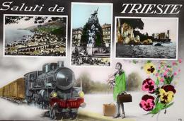 Trieste / Saluti Mosaik In Trento 1935 - Trieste