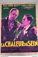 """Affiche Originale Du Film De Jean Boyer """"La Chaleur Du Sein"""" 1938 Avec Michel Simon , Arletty... - Format 60 X 80 Cm - Afiches"""