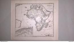 Carte Afrique  - Editeur Justus Perthes  1876 - Stieler's Hand Atlas N° 68 - 38 X 45 Cm - Pas De Pli - Geographical Maps
