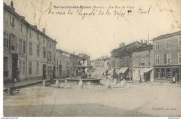 CPA Sermaize Les Bains - Rue De Vitry -  Circulée 1914 - Sermaize-les-Bains