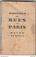 Indicateur Des Rues De Paris Métro Autobus - Nouvelles Rues De Paris Mises à Jour En 1945 - Europe