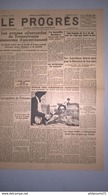 Journal Le Progrès 20 Octobre 1944 -  N° 30.074 - Authentique - 1 Feuille Recto-Verso - Journaux - Quotidiens