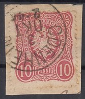 DR 33 A, Gestempelt Mit Nachverwendetem Baden-K 1: ODENHEIM Auf Briefstück - Germany