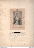 Diplôme Réception Dans La Congrégation Des Enfants De Marie Au Couvent Des Dames Du St Enfant Jesus - 1900 - Chalon S/S - Diplômes & Bulletins Scolaires