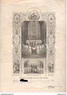 Diplôme De 1ère Communion 1874 - Fontaines ( 71 ) - Diplômes & Bulletins Scolaires
