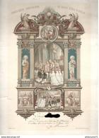 Diplôme De 1ère Communion Et Confirmation - 1911 - Saint Marcel - Diplômes & Bulletins Scolaires