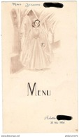 Menu De 1ère Communion - 23 Mai 1954 - Menus