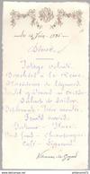 Menu Villeneuve-la-Guyard 14 Juin 1936 - Menus