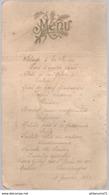 Menu 18 Janvier 1921 - Menus