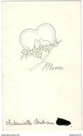 Menu De Mariage 7 Novembre 1959 - Menus