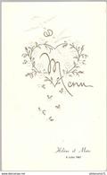 Menu De Mariage 8 Juillet 1967 - Menus