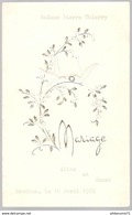Menu De Mariage - Bruchon 10 Avril 1965 - Menus