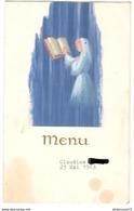 Menu De 1ère Communion - 23 Mai 1963 - Menus