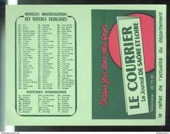 Calendrier Courrier De Saône Et Loire 1974 - 7 X 10,5 Cm Fermé - Calendars