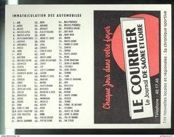 Calendrier Courrier De Saône Et Loire 1968 - 7,5 X 10,5 Cm Fermé - Petit Format : 1961-70