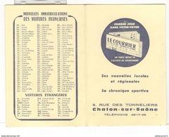 Calendrier Courrier De Saône Et Loire 1967 - 6,5 X 10 Cm Fermé - Formato Piccolo : 1961-70