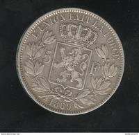5 Francs Belgique 1869 Léopold II Roi Des Belges - TTB+ - 1865-1909: Leopold II