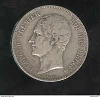 5 Francs Belgique 1849 Léopold Premier Roi Des Belges - TTB+ - 1831-1865: Leopold I