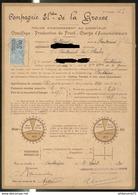 Contrat D'Abonnement De Fourniture D'electricité 1930 - Fontaines ( 71 ) - Compagnie électrique De La Grosne - France