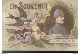 CPA Illustrée - Souvenir Du 85ème Régiment D'Infanterie - Circulée 1917 - Militaria