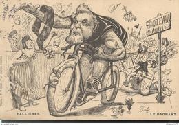 CPA Illustrée Humoristique - Fallières - Le Gagnant - Circulée 1906 - Humour