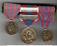 Placard De Médailles - Commémorative - Défense Nationale Arme Blindée - Commémorative - Francia