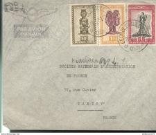 Marcophilie - Lettre Du Congo Belge à Paris 1951 - Stamps