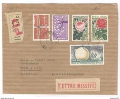 Marcophilie - Lettre Recommandée De Dijon à La Guadeloupe 1963 - 1961-....