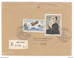 Marcophilie - Lettre Recommandée De Monte-Carlo à Couches ( Saône Et Loire )  1970 - Monaco