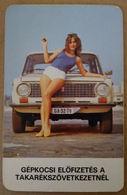 """""""Calendar Card - Hungary - 1977-85 - Car Lada Zsiguli 3 Diff. - Formato Piccolo : 1971-80"""