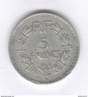 5 Francs France Lavrillier 1948 B 9 Ouvert - TTB - France