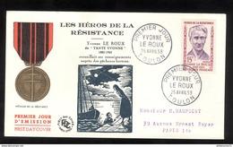 FDC France 1959 - Yvonne Le Roux - Tante Yvonne - 25/04/1959 - FDC