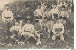 CPA Carte Photo Tirailleurs Marocains 1924 - Régiment à Identifier - Circulée - Uniformen