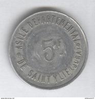 5 Francs Asile Départemental De Saint Ylie ( Jura ) - Monnaie De Nécessité - TTB - France