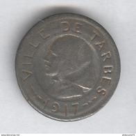 Jeton 10 Centimes Tarbes 1917 - Fer - Monnaie De Nécessité - TTB - France