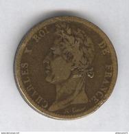 10 Centimes Colonies Françaises 1828 A  Charles X - TTB - Monnaie Vernie - Colonies