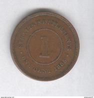 1 Cent Etablissements Des Détroits / Straits Settlements 1885 - TTB+ - Monnaies