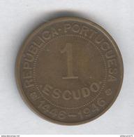 1 Escudo Guinée Portugaise 1946 Commémorative - TTB+ - Guinea-Bissau