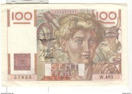 Billet 100 Francs France Jeune Paysan 04-09-1952 TTB+ - 100 F 1945-1954 ''Jeune Paysan''