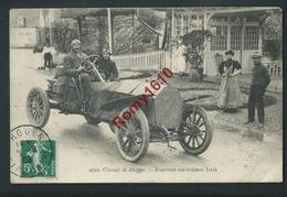 Circuit De Dieppe. Fournier Sur Voiture Itala. Circulé En 1908. - Sport Automobile