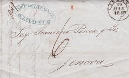 Autorità Cittadine Di Livorno Per Genova Taxe Manuscrite 29 Marzo 1849 - Italy