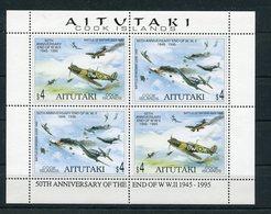 """Aitutaki - Mi.Nr. 740 / 741 Kleinbogen - """"50 Jahre Ende 2. Weltkrieg"""" ** / MNH (aus Dem Jahr 1995) - Aitutaki"""