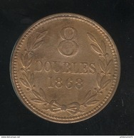 8 Doubles Guernesey 1868 TTB+ - Guernesey