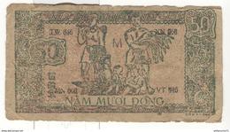 Billet Viet Minh 50 Dong - Indochine Française - 1948-1949 - Viêt-Nam