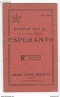 Manuel Esperanto 1928 9,5 X 15 Cm 32 Pages 1928 Très Bon état - Livres, BD, Revues