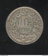 1 Franc Suisse / Switzerland 1957 TTB - Suiza
